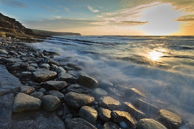 Marwick bay at sunset, Mainland, Orkney