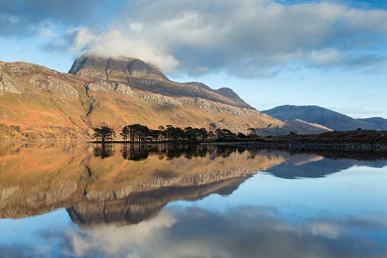 Slioch reflected in Loch Maree, Torridon, Scotland