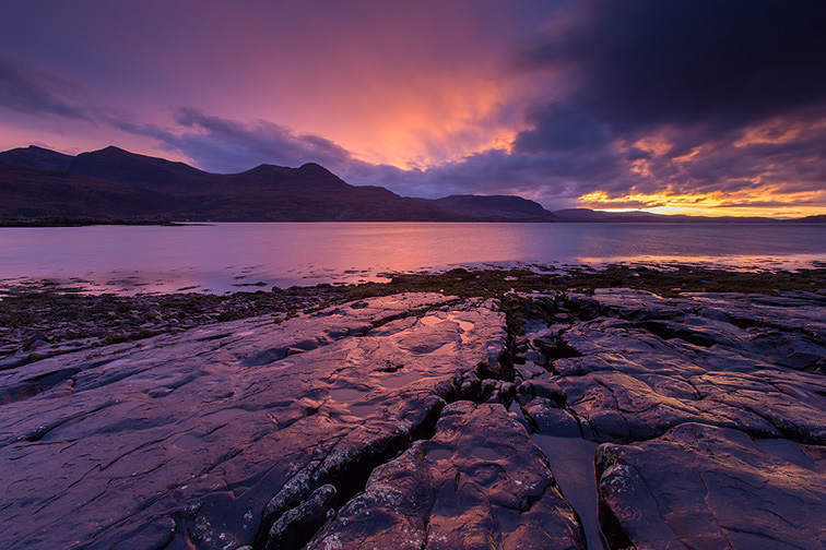Upper Loch Torridon at dusk, Wester Ross, Scotland
