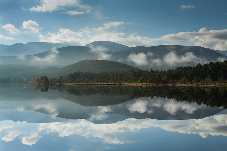 Loch Morlich and Rothiemurchus Forest, Cairngorms National Park, Scotland