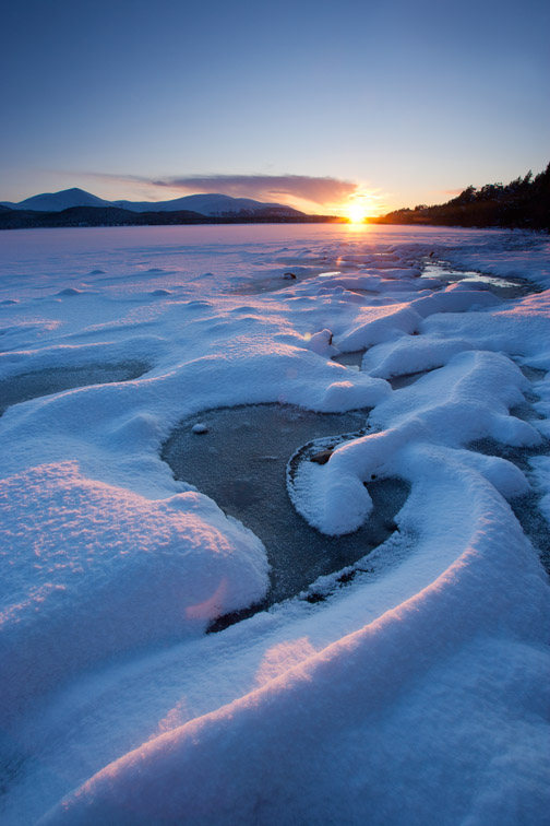 Loch Morlich in winter, Cairngorms National Park, Scotland