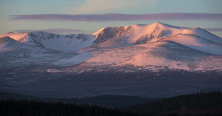 Sunrise on Lochnagar, Eastern Cairngorms, Scotland