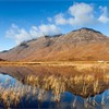 Liathach and reed-fringed lochan, Torridon, Scotland